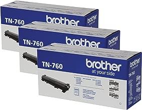 Brother TN-760 DCP-L2550DW HL-L2350DW 2370 2370 2390 2395 MFC-L2710 L2750 2750DW XL Replacement Toner Cartridge (Black) in Retail Packaging / 3-Toner Cartridges