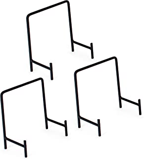 Milltown Merchants 3 Medium Metal Display Stands - Great for Displaying Plates, Servers, Plaques, and Art Creations (3-Pack, Medium Modern Stand)
