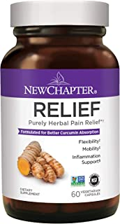 Natural Pain Relief Supplement, New Chapter Relief Supplement with Turmeric for Inflammation Support + Mobility + Gluten F...