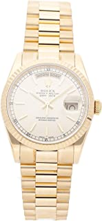 Rolex Day-Date Mechanical (Automatic) Silver Dial Mens Watch 118238 (Certified Pre-Owned)