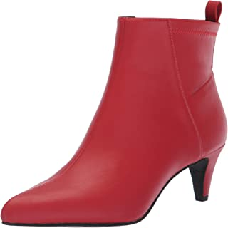 BC Footwear Women's Millimeter Fashion Boot, red Stretch, 6.5 M US
