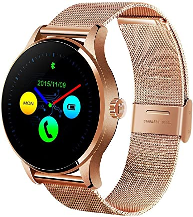 Efanr K88H Bluetooth Smart Watch with Stainless Steel Band, Wrist Watch Smartwatch Pedometer Heart Rate
