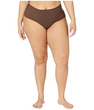 Hanky Panky Plus Size Bare Godiva High-Rise Thong (Mahogany) Women