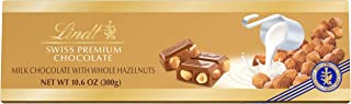 Lindt Swiss Premium Milk Chocolate with Whole Hazelnuts, 10.58-Ounce Packages (Pack of 5) by Lindt