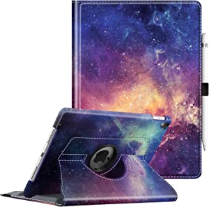 Fintie Case for iPad Pro 9.7-360 Degree Rotating Stand Protective Cover with Smart Stand Cover Auto Sleep/Wake Feature for iPad Pro 9.7 Inch (2016 Version), Galaxy