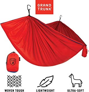 Grand Trunk Trunk Tech Double Hammock: Strong, Light, and Portable - Perfect for Outdoor Adventures, Backpacking, and Festivals