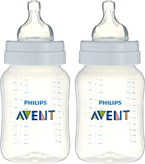 ببرونة مضادة للمغص للاطفال من فيليبس افينت، زجاجتين، 260 مل - SCF813/62