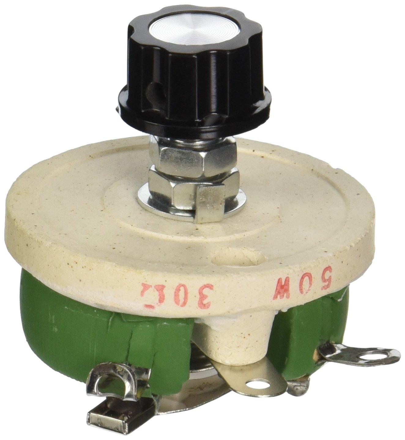 50w 10 ohm potenci/ómetro cer/ámica cono variable de resistencia olla reostato Sourcingmap