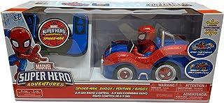 Marvel Super Hero Adventures Spider Man Buggy Radio Control 6 Way Controler Boy Birthday
