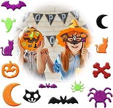 Halloween Stickers Foam Craft 500 PCS Glitter 3D Halloween Craft Stickers Self-Adhesive,Pumpkin Decoration Ghost Spider Ha...