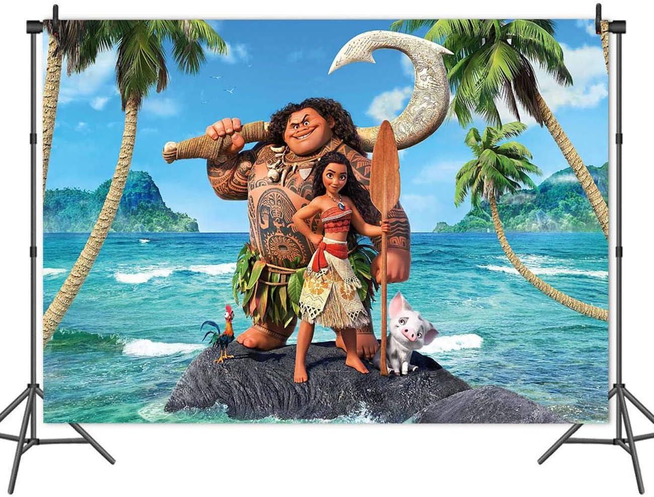 Cartoon Moana Seattle Mall Maui Beach Theme Showe Background Photography Baby Popularity