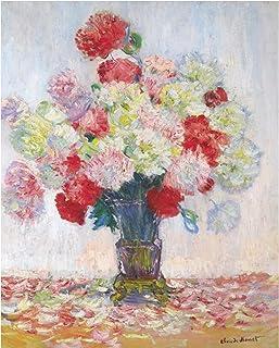 Shmjql Fleur Abstraite dans Un Vase Peinture À l'huile sur Toile Art Affiche Impression Murale Photo pour Salon Décor-50X7...