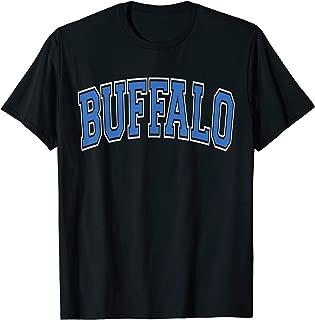 Buffalo NY T Shirt - Varsity Style Blue Text