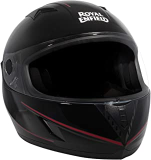 Royal Enfield Gloss Black Full Face Helmet Size (XL)62 CM (RRGHEH000050)