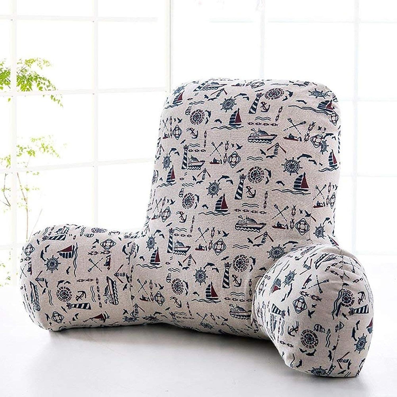 XHCP Oreiller de Lecture d'oreiller de Soucravaten Lombaire arrière de Coussin pour Le Dossier de lit et Le Sofa pour Le Dos (Couleur    2, Taille  65  40  26cm)