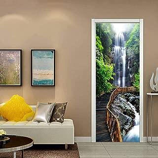 "Fymural Door Cover Decorations Decals - 3D Door Murals Peel and Stick Waterfall Sticker Vinyl Removable Wallpaper for Home Decoration, 30.3x78.7"""