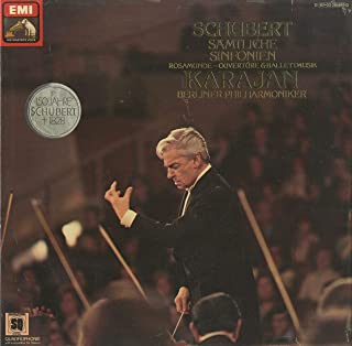 シューベルト Schubert 交響曲1~6番 8番 9番 ロザムンデ~序曲 バレエ音楽 ELECTROLA 1C 157-03285-9