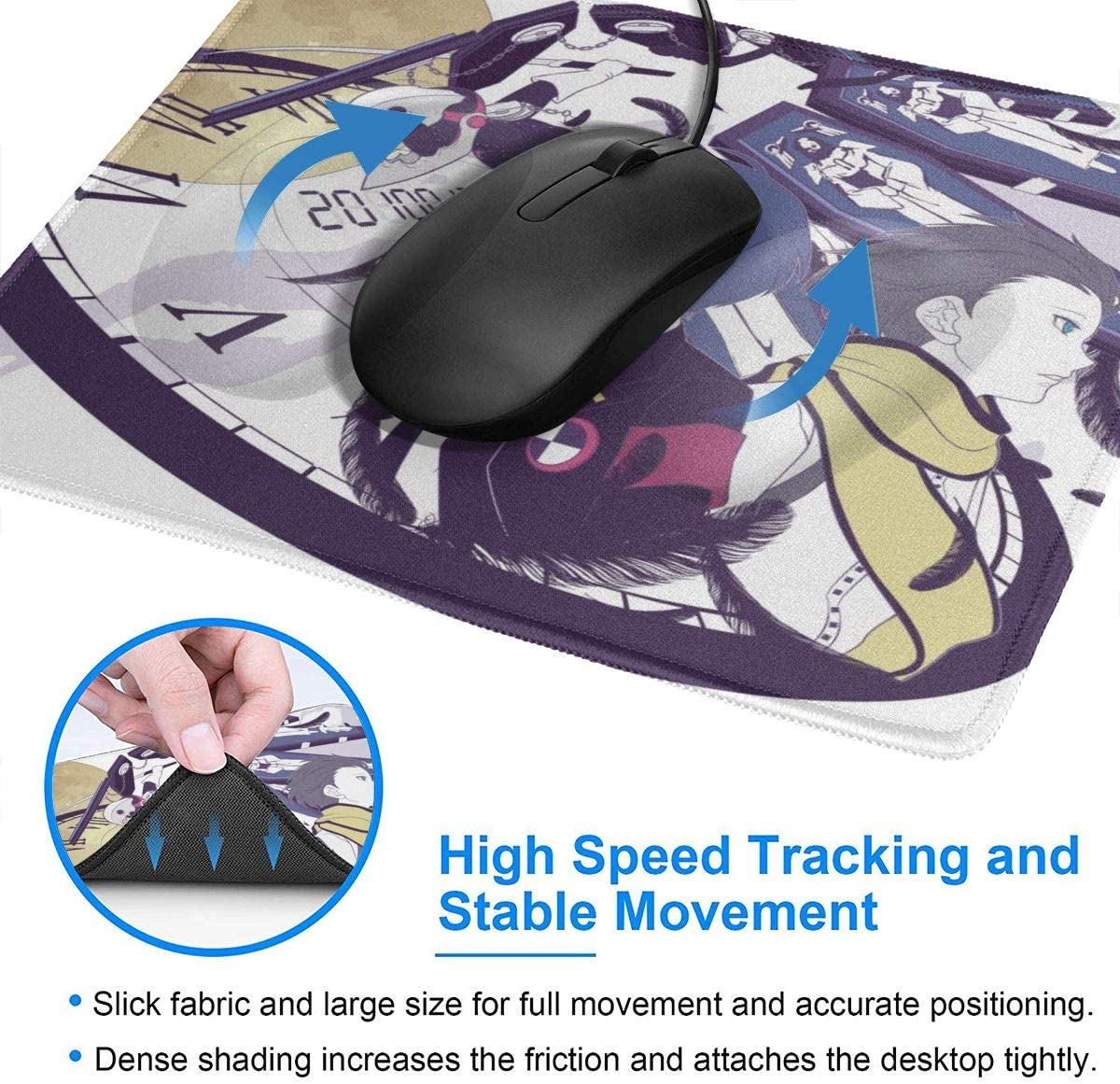 Protagonist Aigis Persona 3 Mouse Pad Non Slip Gaming Mouse Pad with Stitched Edge Computer PC Mousepad Neoprene Base for Office Home