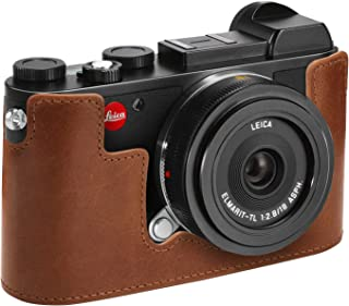 Megagear Leica Cl Genuine Leather Camera Case, Brown (MG1458)