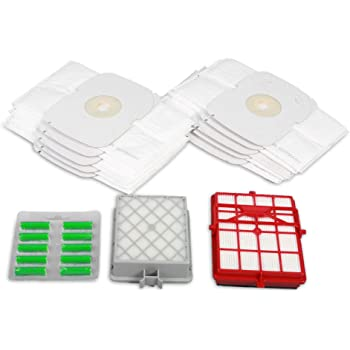 Hossis Wholsale - Lote de 15 bolsas para aspiradora con filtro Hepa y filtro Hepa de carbono para Lux Intelligence: Amazon.es: Hogar