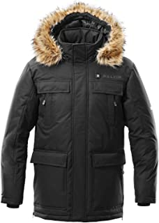 Kelvin Coats Heated Jacket for Men - 5 Heat Zones, 8Hr Battery, Black Parka