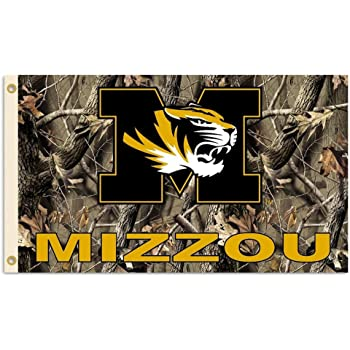 BSI NCAA Missouri Tigers Realtree Camo Background Flag with Grommets 3 x 5-Feet