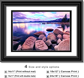 Love rock solid - Personalized artwork with Couple's Names on it, wedding Anniversary gift, Valentine's Day gift.