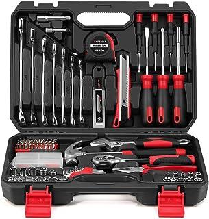 Eastvolt 158-Piece Home Repair Tool Set, General Household Hand Tool Kit,Auto Repair Tool Set, with Storage Tool Box, EVHT...