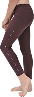 Stretch Is Comfort Cotton, Metallic and Print Girl's Footless Leggings