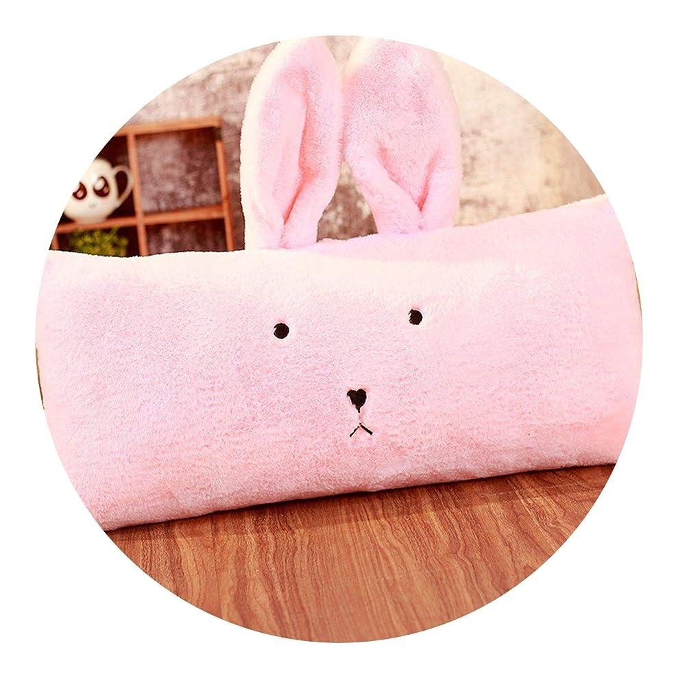 多くの危険がある状況映画疲労かわいいまくら 長い枕 枕 ベッドクッション 大き バック かわいい 寝枕 かわいい,兔長枕60*50cm,ピンク