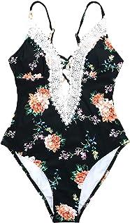 33258c7fd3d70 CUPSHE Women's Ladies Vintage Lace Bikini Sets Beach Swimwear Bathing Suit