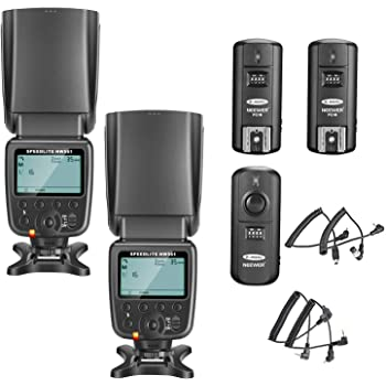 Neewer 2 Packs NW561 Flash Speedlite Kit for Canon Nikon Panasonic Olympus Pentax Fijifilm and Sony Mi Hot Shoe Cameras with 2.4G Wireless Trigger