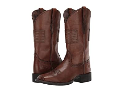 Ariat Round Up Patriot (Silly Brown) Cowboy Boots