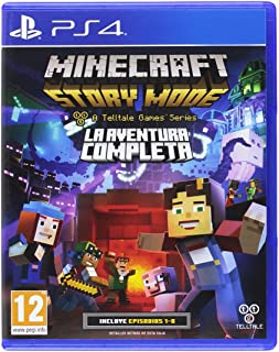 Minecraft Story Mode The Complete Adventure PS4 Playstation 4 (Spanish Cover but Full English in Game)