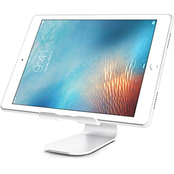 Niccou iPad Pro 10.5 タブレットPC iPhone 8 7s スマホ 用 スタンド 270°回転 調整可能 アルミ シルバー