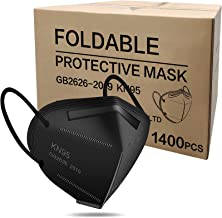WWDOLL 1400 Pcs KN95 Masks, 5-Layer Breathable Safety Dispoasable Mask Black