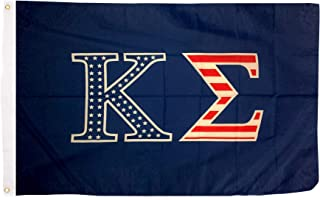 Kappa Sigma USA Letter Fraternity Flag Greek Letter Use as a Banner Large 3 x 5 Feet Sign Decor Kappa Sig