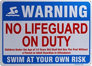No Lifeguard On Duty Sign Reflective Signs 10 X 14 Inch Rust Free 40 Mil Aluminum Sign