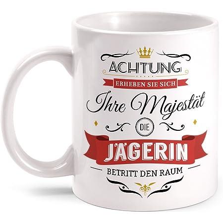 Majestät Jäger Tasse Spruch Geschenk Idee Jagd Sport Jagen Hobby Arbeit Lustig