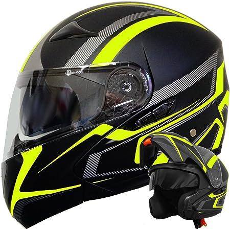 Moto Helmets F19 Gloss Black Motorrad Helm Klapp Helm Modular Helm Flip Up Integral Helm Motorrad Helm Roller Helm Sport Ece 22 05 Sonnenvisier Schnellverschluss Tasche M 57 58cm Auto
