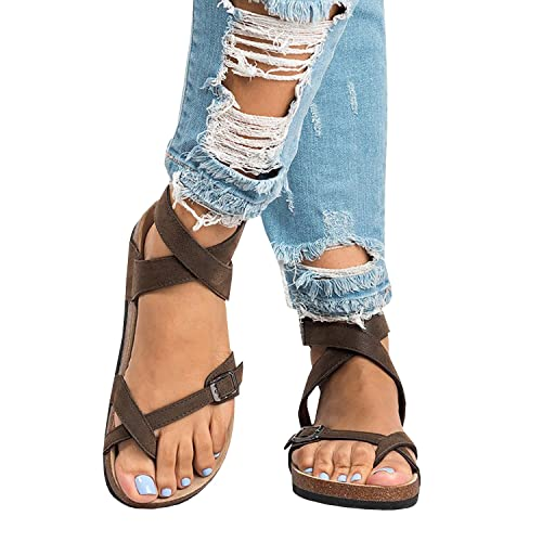 7f6f58ffdbab Pxmoda Women s Fashion Flip Flop Gladiator Sandals Strappy Flat Sandal Shoes