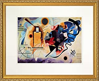 Yellow - Red - Blue by Wassily Kandinsky. Framed Art Print Poster. Custom Made Real Wood Traditional Gold Frame (22 1/8 x 18 1/8)
