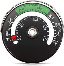 adfafw Termómetro magnético de la Estufa Calibre de Temperatura de 50-300 Grados Celsius para Tubo de Estufa de Fuego