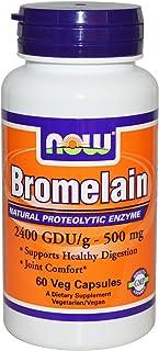 Now Foods Now Bromelain 2400 Gdu, 500Mg, 60 Veg Capsules