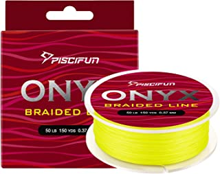 Piscifun Onyx Braided Fishing Line 6lb-150lb Superline Abrasion Resistant Braided Lines Super Strong High Performance PE Fishing Lines
