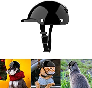 NVTED Pet Helmet, Dog Cat Safety Ridding Cap Motorcycle Bike Hat, Soft Padded Sun Rain Protection (Small)