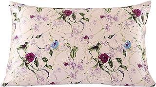 SLPBABY Silk Pillowcase for Hair and Skin with Hidden Zipper Print (Standard, Pattern1)