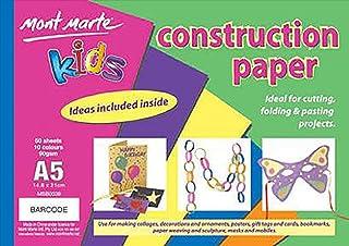 Mont Marte Kids - Construction Paper Pad A5 50 Sheet