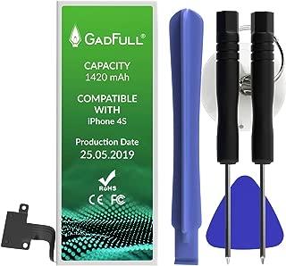 GadFull Batería de reemplazo para iPhone 4S | 2019 Fecha de producción | Incluye Kit de Herramientas Profesional de reparación Manual | Funciona con Todos los APN Originales