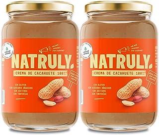 comprar comparacion NATRULY Crema de Cacahuete Sin Azúcar, Vegana, Sin Gluten, Sin Lactosa, 100% Cacahuete -Pack 2x500g (antes Natural Athlete)